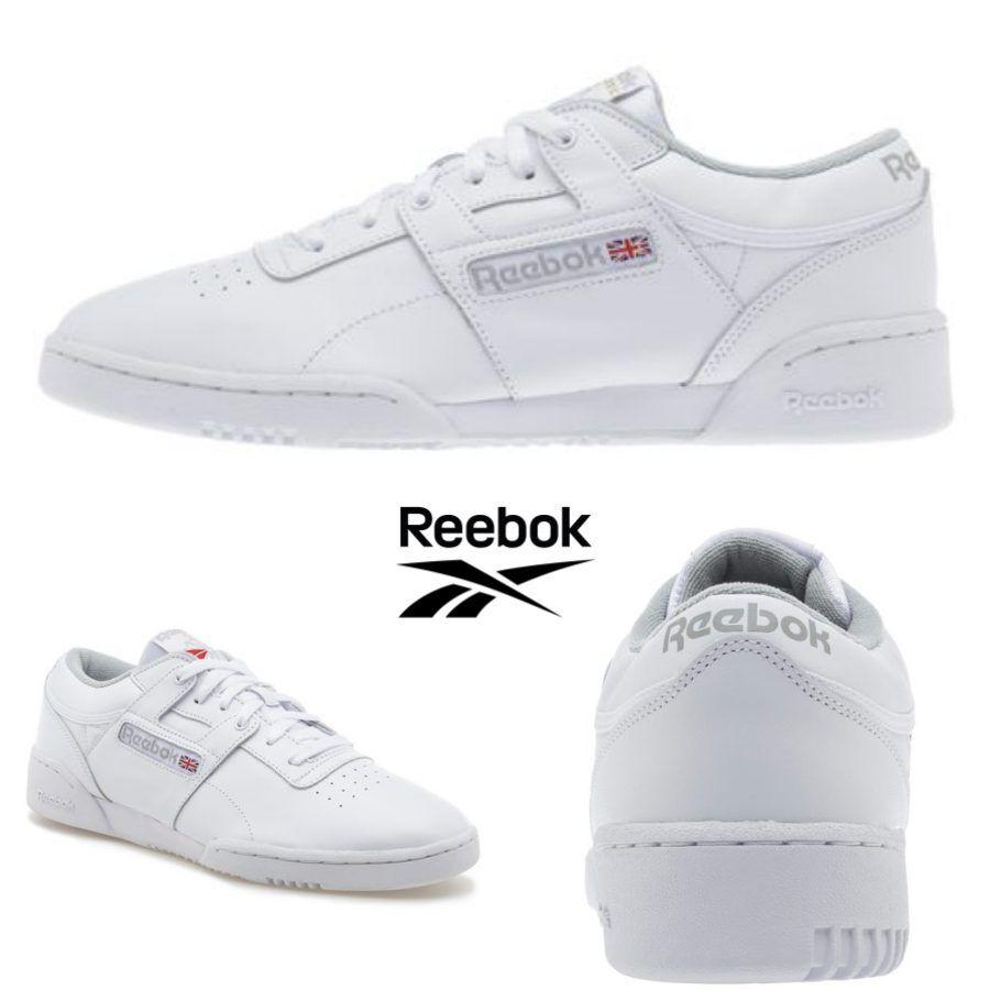 Reebok Classic Workout Low Running schuhe Turnschuhe Weiß CN0636 SZ 4-12.5