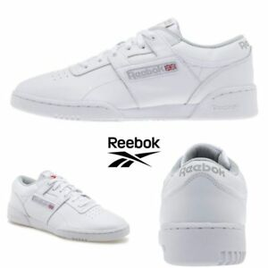 Reebok-Classic-Workout-Low-Running-Shoes-Sneakers-White-CN0636-SZ-4-12-5