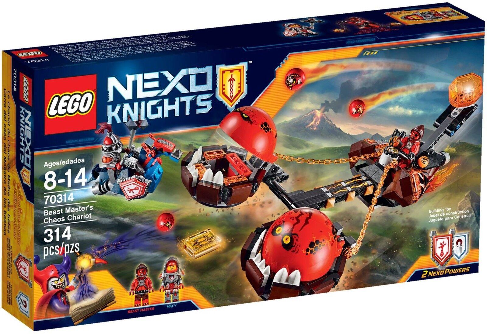 LEGO ® Nexo Knights ™ 70314 caos-carrozza del mostro-maestro NUOVO OVP NEW MISB