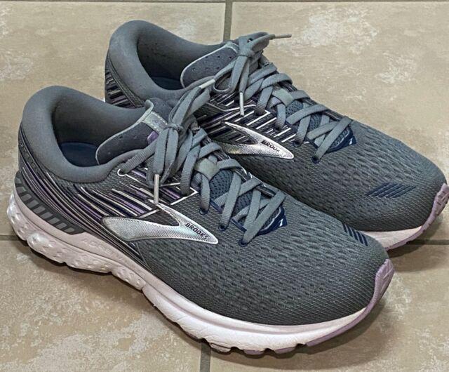 Brooks Adrenaline GTS 19 Women's Silver Grey 1202841B060 Running Shoes size 10 B