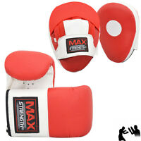 Curved Focus Pads & Boxing Gloves Sets Kick Punch Bag Training Sparring Mitts