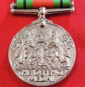 WW2-THE-DEFENCE-MEDAL-RIBBON-MEDAL-REPLICA-MEDAL-FOR-DISPLAY-OR-MOUNTING-ANZAC