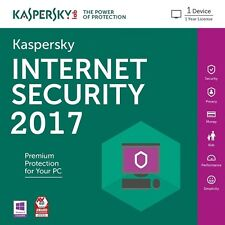 Kaspersky Internet Security 2017   License 1 PC 2 Years Win 7,8,10