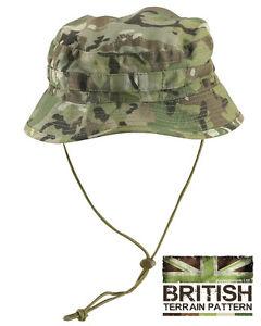 British-Army-Military-Jungle-Boonie-Sun-Bush-Hat-Cap-Surplus-US-Combat-BTP-Camo