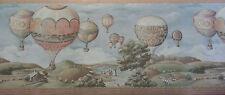 Imperial Wallcovering Vtg Hot Air Ballon Event  Wallpaper Border