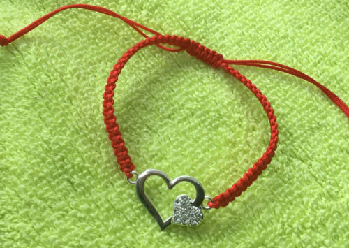 Heart With Zirconium Red Cord Protection Evil Eye Bracelet Love