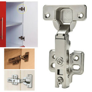 Details about 1x Clip-On standard Full Overlay Hinges for Face Framed  Cabinet Cupboard Door