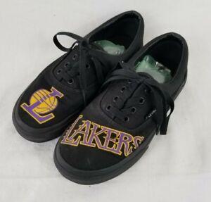 Boys Size 3 NBA Los Angeles Lakers Vans