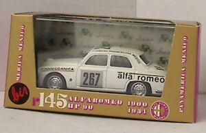 BRUMM-R145B-ALFA-ROMEO-1900-diecast-model-racing-car-white-body-Mexico-1-43
