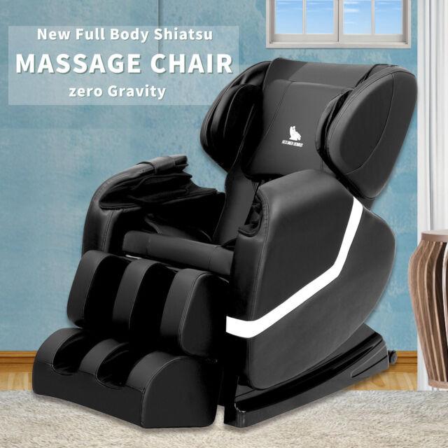 Deluxe Full Body Shiatsu Massage Chair Recliner ZERO GRAVITY With Heat Foot  Rest