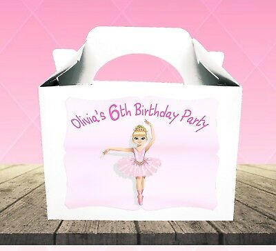 10 X BALLET DANCER PAPER TREAT BAGS GIRLS BIRTHDAY PARTY PINK LOOT GOODIE SHOES