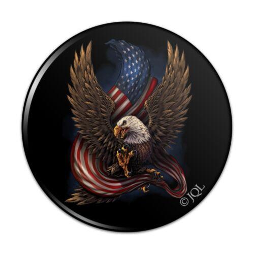 Patriotic Bald Eagle American USA Flag Kitchen Refrigerator Locker Button Magnet