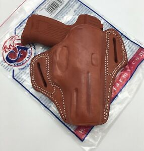 Details about For H&K P2000 | Cebeci Leather Pancake OWB Holster Combat  Grip RH Right Brown HK