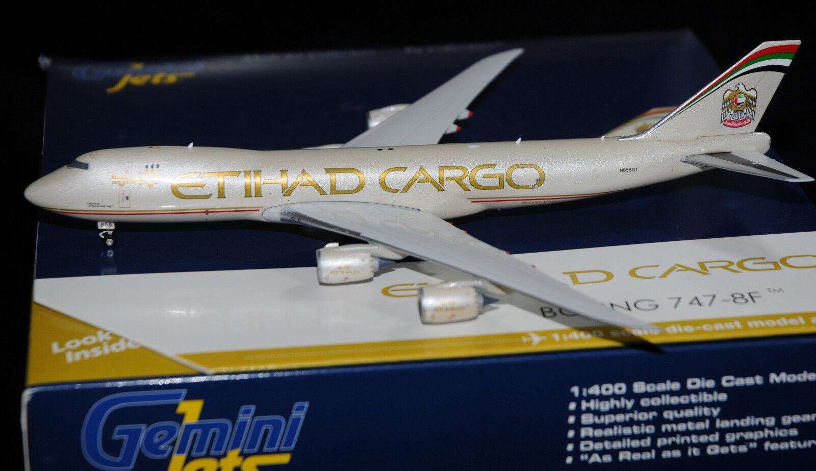GEMINI JETS 1 400 Boeing B747-8F ETIHAD CARGO N855GT