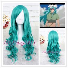 65cm long Dark Turquoise Anime Bleach Neliel hair wig Wavy long Cosplay Wig CC62