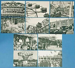 Set-of-10-NEW-B-amp-W-Fairground-Postcards-for-Postcrossing-amp-Postcardsofkindness