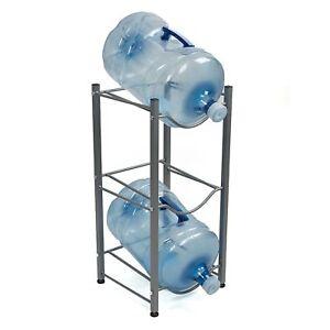 Mind-Reader-3-Tier-Stainless-Steel-Heavy-Duty-Water-Cooler-Jug-Rack-Silver