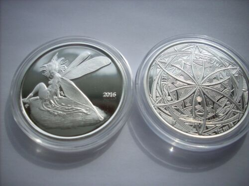 NEW IVY THE FAIRY 1 OZ SILVER PROOF IN ART SLAB STEVE FERRIS Cousin to Gwen COIN