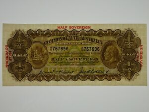 1926-Half-Sovereign-Kell-Collins-Banknote-in-Almost-Extremely-Fine-Condition
