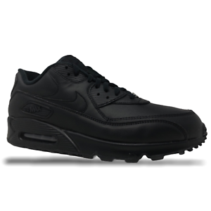 Nike-Air-Max-90-Leather-Black-Mens-Running-Lifestyle-Shoes-Size-13-302519-001