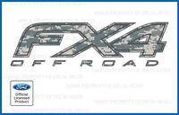 Set Of 2: Ford F250 Fx4 Off Road Decals - Fdcacu - Digital Camo Acu Stickers 350