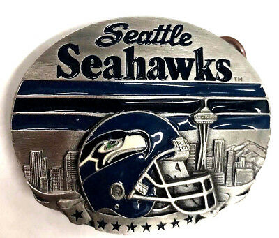 """Seattle SEAHAWKS Sports buckle.3 """"-2""""for Size1 1//2"""" Wide belt.Authentic License"""