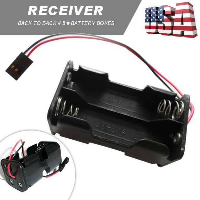 Receiver Battery Pack Case Box 4 x AA Connector Battery Insert RC Model SU