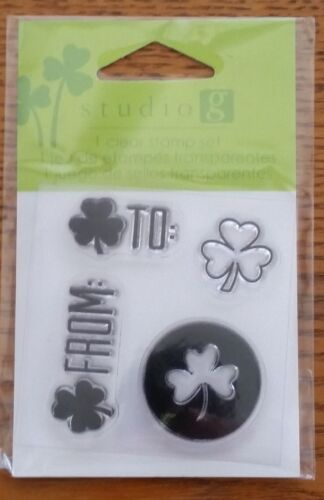 LUCK ST KISS ME STUDIO G CLEAR STAMP SET PATTY/'S DAY IRISH LUCKY