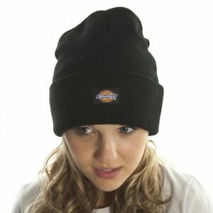 a99fd1e8abc Black 14 Inch Cuffed Knit Beanie Hat Dickies Kc145347dic for sale ...