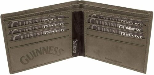 sg Guinness Wings Grey Leather Wallet