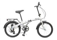 Reflex Tempus 20 Wheel 6 Speed Unisex Folding Folder Bike Bicycle Silver Rf300