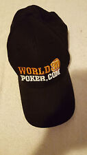 World 3D Poker.com Cap Hat Black