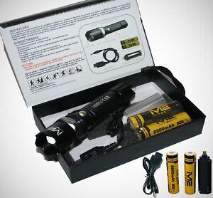 3x-Polizei-Swat-Led-Cree-Taschenlampe-weite-Leuchtweite-6x-8800-Power-Akkus
