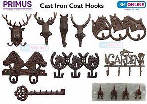 Cast Iron Coat Hooks Stag Deer Horse Moose Outdoor Garden