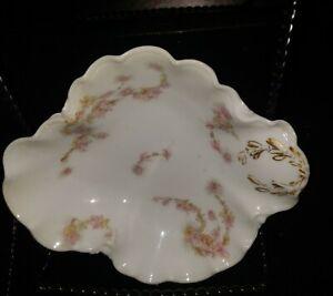 """Antique 1893 Limoges H&C L France Haviland & Co. Porcelain 5"""" Bun Plate Floral"""