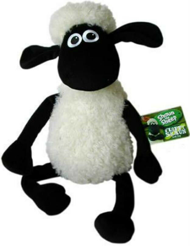 Official Aardman Animations Shaun The Sheep 40 cm Sitting Soft Soft Soft Plush Toy New UK 708900