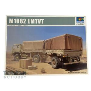 Trumpeter-01010-Kit-Model-Car-US-Army-LMTVT-M1082-Light-Strike-Vehicle-Trailer