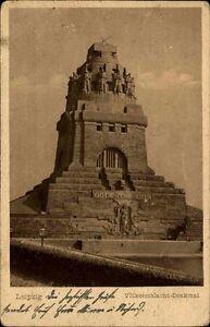 Leipzig-Sachsen-alte-Postkarte-1924-gelaufen-Partie-am-Voelkerschlacht-Denkmal