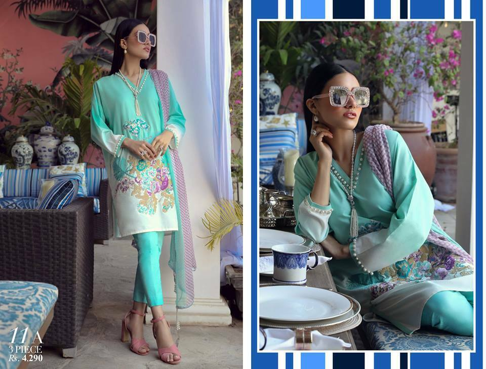 Sana Safinaz Muzin Lawn Collection 2019 Design 11A