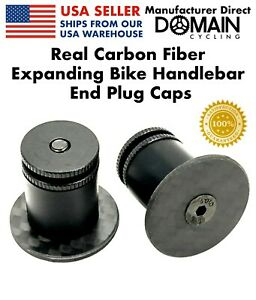 Real-Carbon-Fiber-Expanding-Bike-Handlebar-Bar-End-Plug-Caps-Domain-Cycling