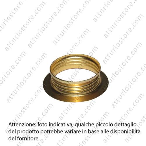 2x Ghiera in metallo per portalampada E14 Ø4cm dorata