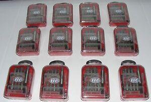 JOB-LOT-12-ITC-Pro-Tools-Screwdriver-bit-set-c-w-snap-in-holder-on-1-4-hex-501