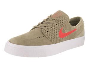 2121873fb4df Nike Sb Zoom Janoski Ht Men s Skateboarding Shoes Khaki Track Red ...