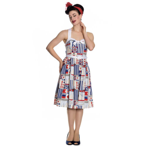 Hell Summer Sailor Lighthouse Sailor 50's Rockabilly Retro Bunny Dress Vintage BwnxrqBRg
