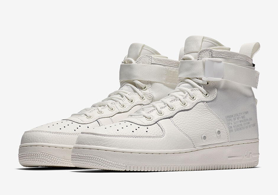 2018 Nike Air Force 1 SF AF1 Mid QS SZ 11 Triple Ivory Special Field AA6655-100