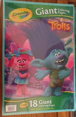 Crayola Color & Sticker Dreamworks Trolls Giant Coloring ...