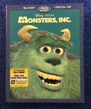 Monsters, Inc. (Blu-ray/Digital HD, 2017) NEW w/ Slipcover; Disney-Pixar