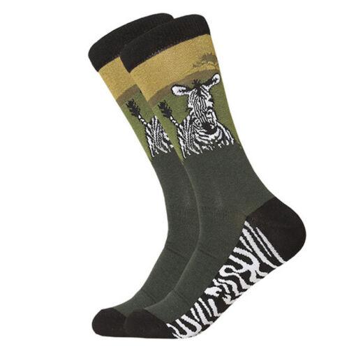 NEW  Mens Combed Cotton Socks Novelty Animal Dog Alpaca Shark Casual Dress Socks