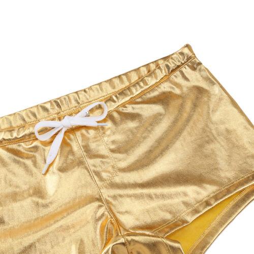 Herren Wetlook Boxershorts Leder-Optik Boxer Briefs Trunks Unterwäsche Badehose