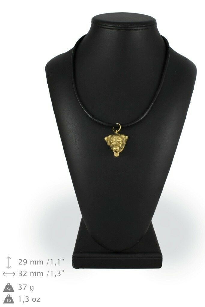 Rottweiler - Gold coverot necklace with dog in in in box high quality Art Dog 5e8f13